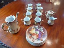 ANTIQUE CHINA 19 PIECE COFFEE/TEA SET