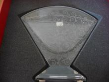 BACCARAT CRYSTAL RENDEZ-VOUS LARGE FAN VASE-NIB