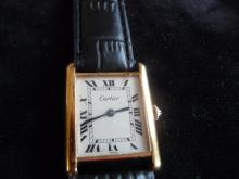 MAN CARTIER 18K TANK WATCH