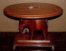 1930s Mahogany Sri Lanka Elephant Table