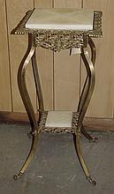 Brass & Onyx Fern Stand