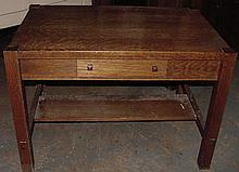 Oak Arts & Crafts Table/Desk