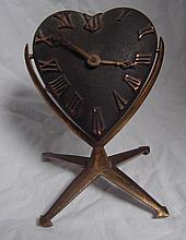 Heart Shaped Boudoir Clock