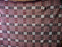1850s Red White & Blue Coverlet