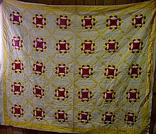 Penn 1900 Red, White & Gold Quilt
