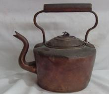19th Cent. Copper Dovetailed Kettle