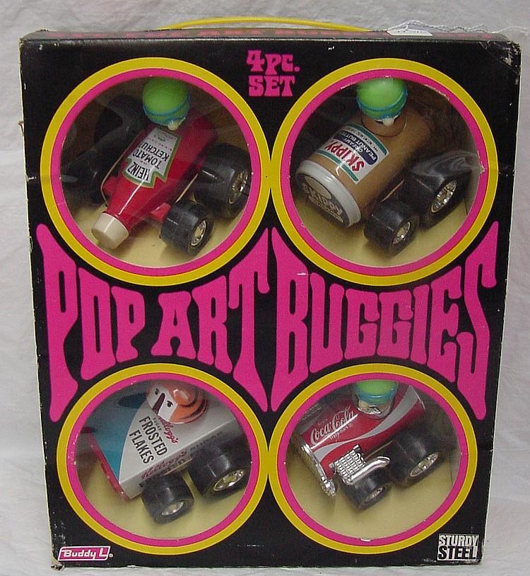 Buddy L 4 Pce. Pop Art Buggies Set