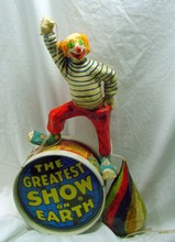 Circus Clown & Top On Drum Toy