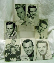 7 1950s Singers Cards Belafonte & Sinatra