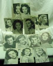 14 1950s Actress Cards