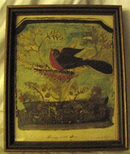 Harrys Little Bird Primitive Folk Art Painting