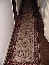 Semi Antique Oriental Hall Runner 27' Long