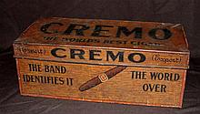 Cremo Litho Tin Cigar Humidor 1890-1910