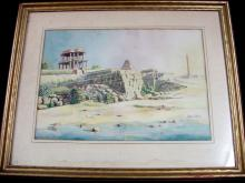 Albert Perrot French 19th Cent. Watercolor