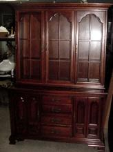 1953 Cherry Thomasville Hutch China Cabinet
