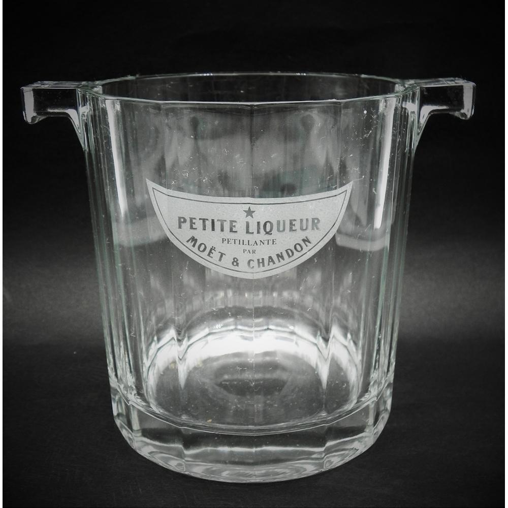 Vintage Glass Moet Chandon Petite Liqueur Ice Bucket 13cm H - 12c D