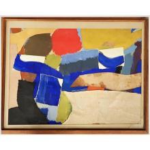 Anthony David (Tony) Woods (Australia, 1940-2017) Framed Collage - Untitled