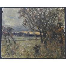Robert Alexander Dakers (English 1866 - 1954) Oil Painting on Card - headin