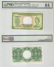 Malaya B.B. 1953, $5 banknote