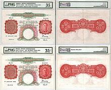 Malaya 1942, $100 banknotes