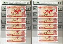 Singapore orchid $10 banknotes