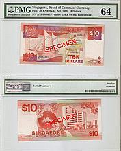 Singapore 'Ship' $10 banknote