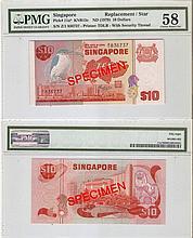 Singapore 'Bird' $10 banknote