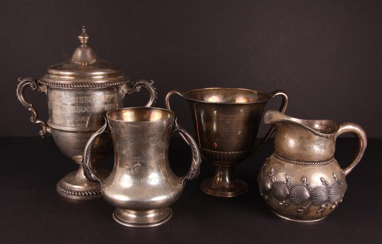Four Sterling Silver Golf Trophies