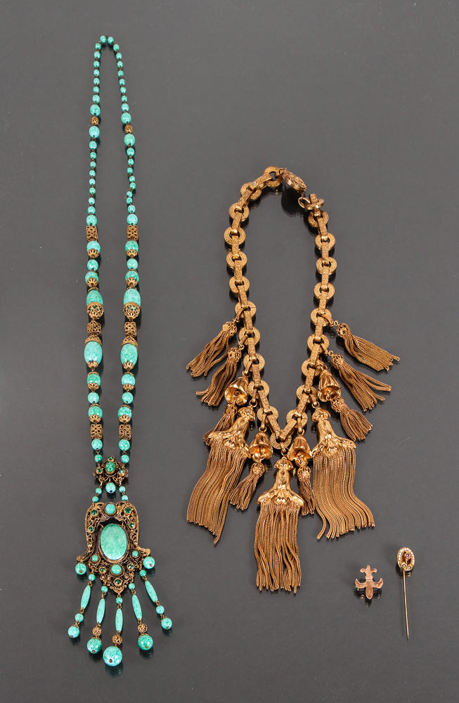 Four Pieces of Costume Jewelry