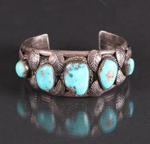 Navajo Turquoise and Sterling Silver Bracelet