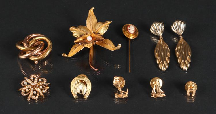 Ten Pieces Gold Jewelry