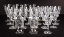 Collection Assorted Glassware including Waterford Goblets, Wines, Tumblers