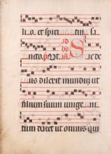 Gregorian Vellum Musical Manuscript Page