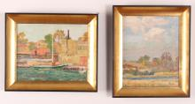 Ernest Albert Jr. Pair of Impressionist Scene Paintings