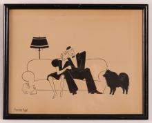 John Held Jr STYLE Drawing Signed Fogel