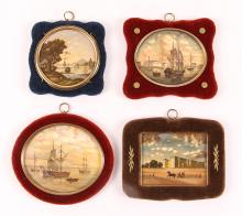 Four St Petersburg Russian Miniature Paintings