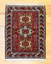 Oriental Rug with Caucasian Designs