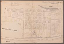 Early 1900's Pittsburgh North Shore Plot Map Allegheny City