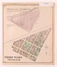 Pittsburgh Point 1872 Third Ward Plot Map