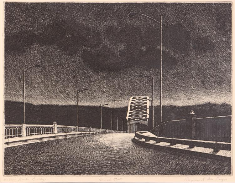 Raymond DeFazio McKees Rocks Bridge Etching