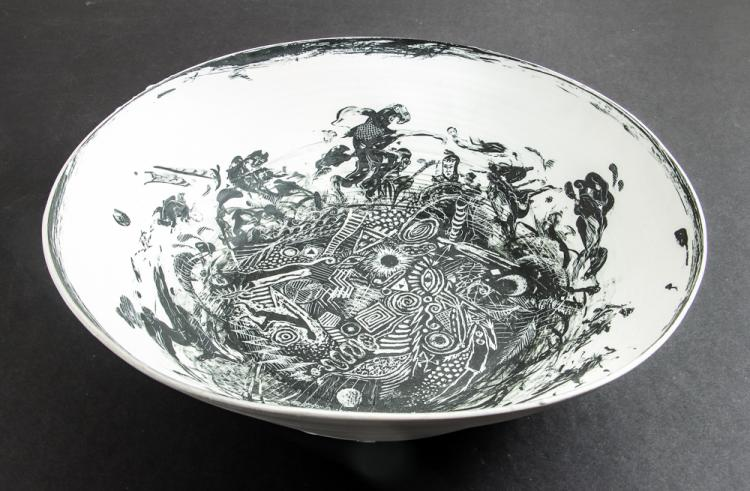 Edward Eberle SUNSPOTS #45 1989 Ceramic Basin