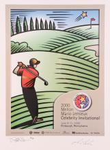 Signed Burton Morris & Mario Lemieux Charity Golf Poster