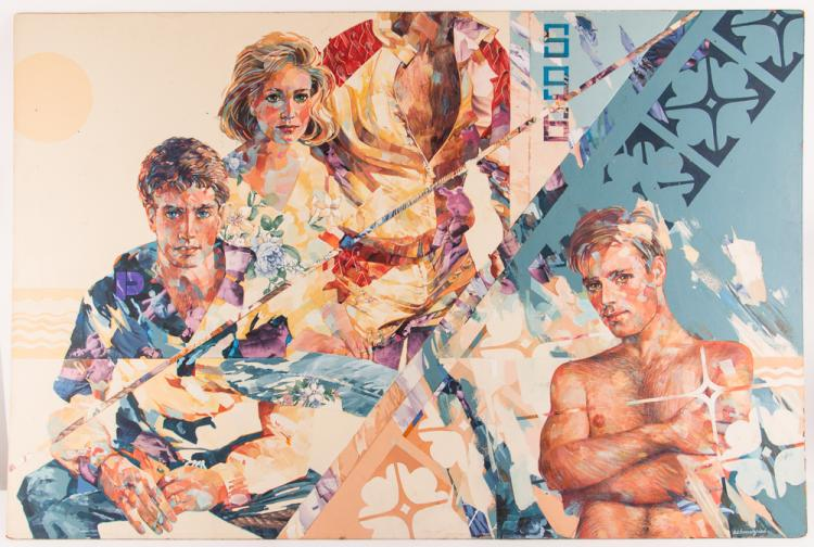 Robert Schmalzried painting Friends At Sea, 1996