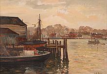 """Ulysses Anthony Ricci ptg. """"Gloucester Harbor"""""""