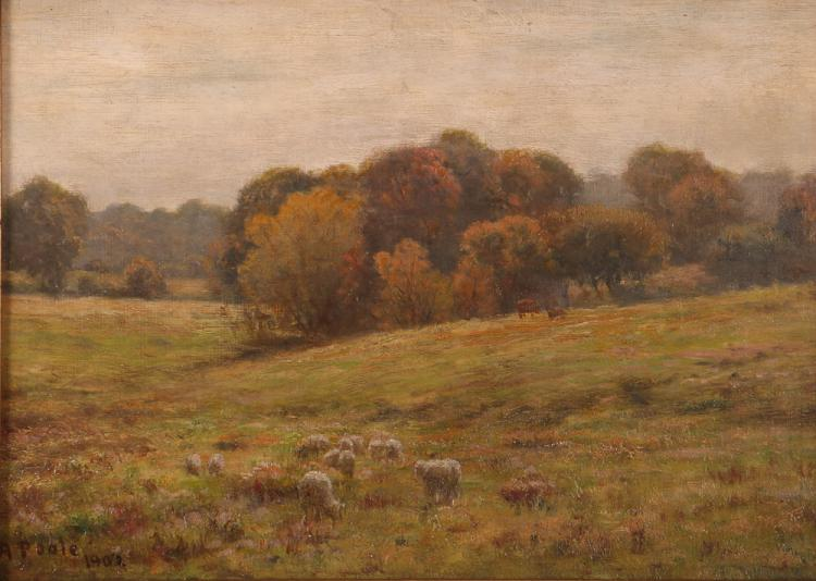 E.A. Poole Sheep in Landscape Painting