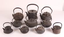Asian Bronze and Cast Iron Teapots