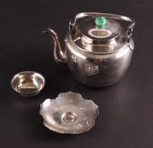 Asian Sterling Silver Tea Set