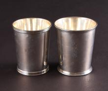 Two Sterling Julep Cups