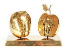 David Meshulam Bronze Apple Sculpture