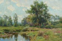 Hugh Bolton Jones Landscape with Cattle